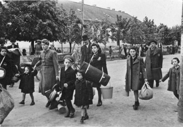 Jewish deportees in Stropkov, Slovakia, 23 May 1942 worldwartwo.filminspector.com