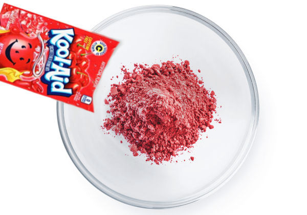 Make hair dye at home using Kool-aid!  This easy recipe makes beautifully vibrant colors! This is the easiest and least expensive way to color your kids hair. #koolaidhairdye #koolaid #koolaidhairdyeforkids #hairdyeideas #homemadehairdye #hairdye