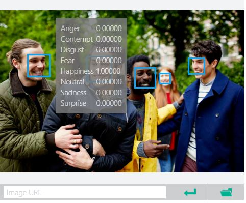 Microsoft Project Oxford Emotion Recognition