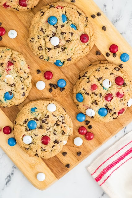 cookies on a wooden board