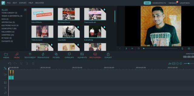 إضافة التأثيرات والمرشحات على الفيديو