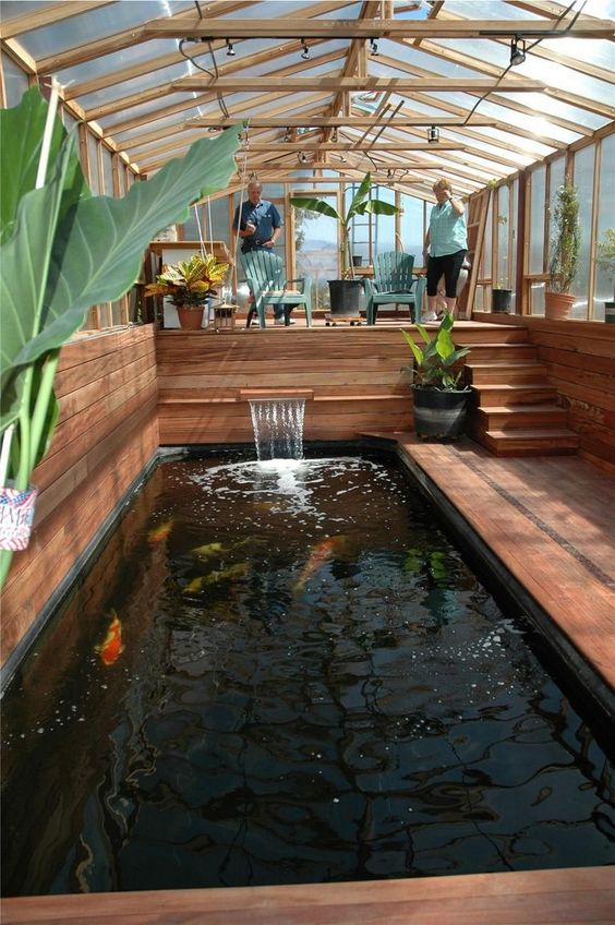 33 Minimalist Home Design With Fish Pond Idea