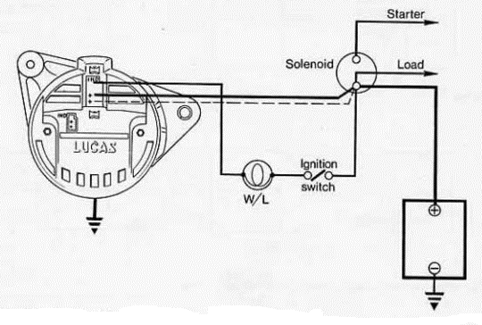 lucas acr alternator wiring