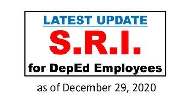 Latest Update on the release of SRI for DepEd Employees as of December 29