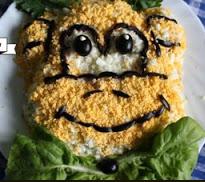 как оформить салат на новый год