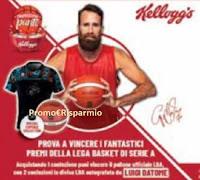 Concorso Kellogg's : vinci 112 palloni e 60 divise Lega Basket Serie A