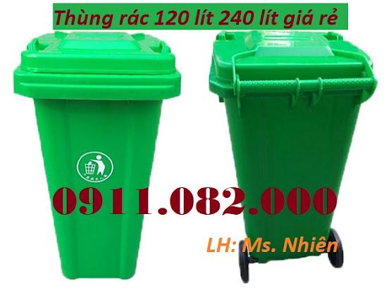 Thùng rác 120 lít 240 lít nhựa hdpe, composite giá rẻ- thùng rác giá sỉ toàn quốc- lh 0911082000