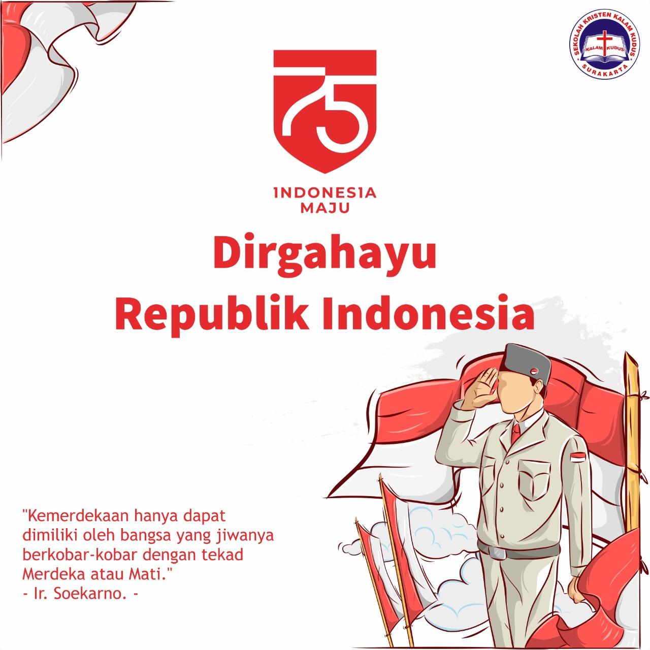 Dirgahayu Republik Indonesia 17 Agustus 2020