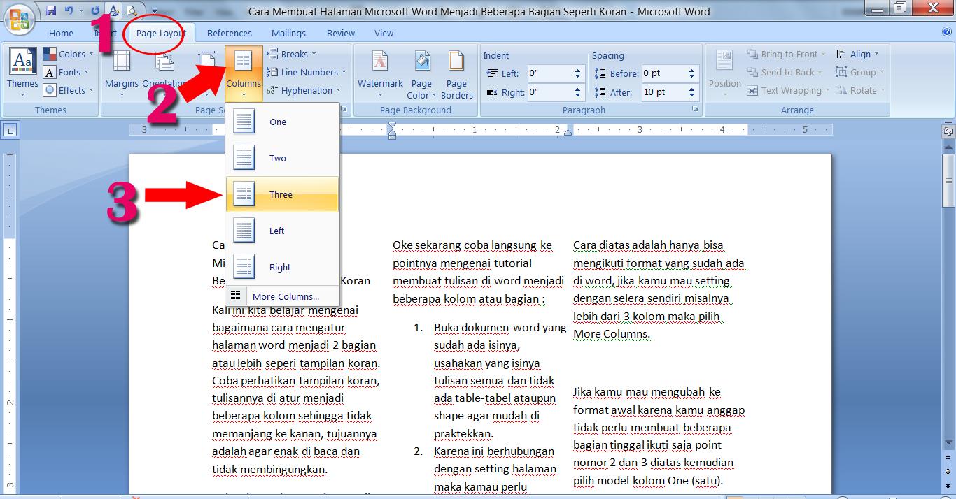 Cara Membuat Halaman Microsoft Word Menjadi Beberapa ...