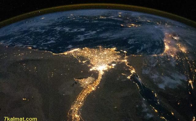 أرض الكنانة من الفضاء الخارجي