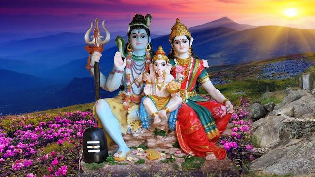 Beautifull Lord Shiva & Parvathi Wallpaper