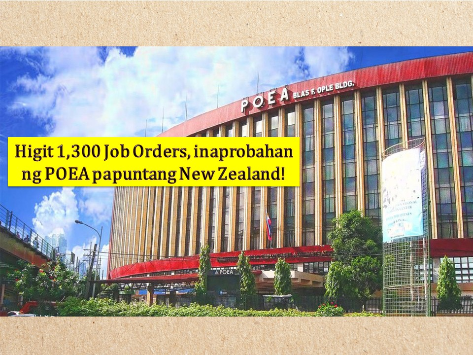 No doubt working abroad is still one of the top choices of many Filipinos who want to earn a big salary for their family! So if you are looking for opportunities on where to apply or what jobs that possibly fit your qualifications, the following are more than 1,300 job orders approved by the Philippine Overseas Employment Administration (POEA) to New Zealand as of May 2019!  Particularly, New Zealand is looking for truck driver, mechanic, dairy farmer, foreman, rigger, scaffolder, meat worker, plumber, welder and many more! Check below for the complete list!  Jbsolis.com is NOT a recruitment agency and we are NOT processing nor accepting applications for jobs abroad. All information in this article is taken from the website of POEA — www.poea.gov.ph for general purposes only. Recruitment agencies are being linked to each job order so that interested applicants may know where to coordinate and apply for their desired position.  Interested applicant may double-check the job orders as well as the license of the hiring recruitment agencies in the POEA website to make sure everything is legal.