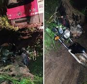 Acidente entre um caminhão e uma motocicleta deixa um morto e um ferido em Lima Campos.