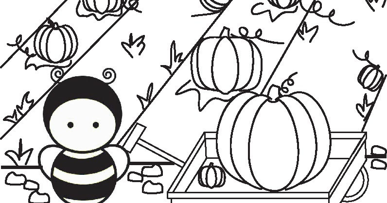 bumble of joy: Pumpkin Picking Coloring Page & Contest