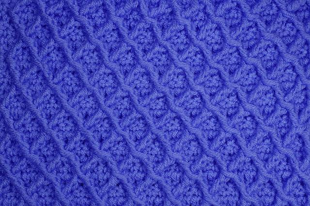 5-Crochet Imagen Puntada de rombos a crochet especial a para jarseys y cobijas por Majovel Crochet