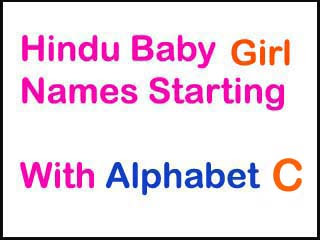 Hindu Baby Girl Names Starting With C With Meaning
