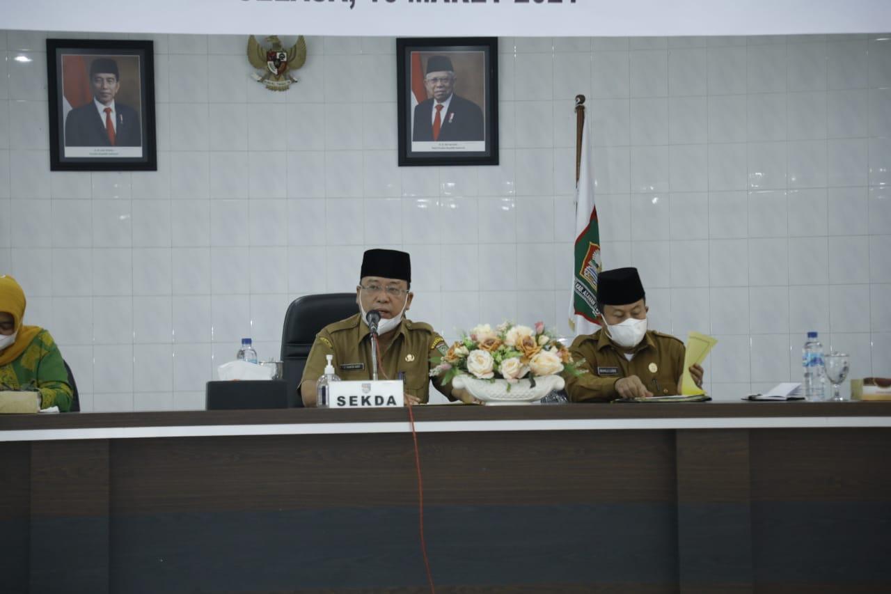 Pjs Sekdakab Asahan Membuka Sosialisasi Pendataan Keluarga Tahun 2021 di Kabupaten Asahan.