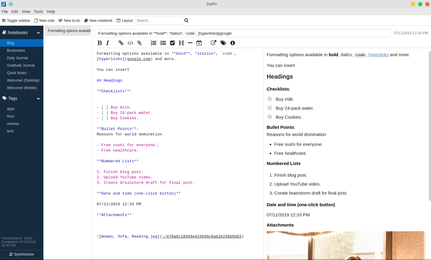 A Look At Joplin: A Free Evernote Alternative For Linux, Mac