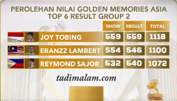 Top 4 Besar Golden Memories Asia 10 Oktober 2019