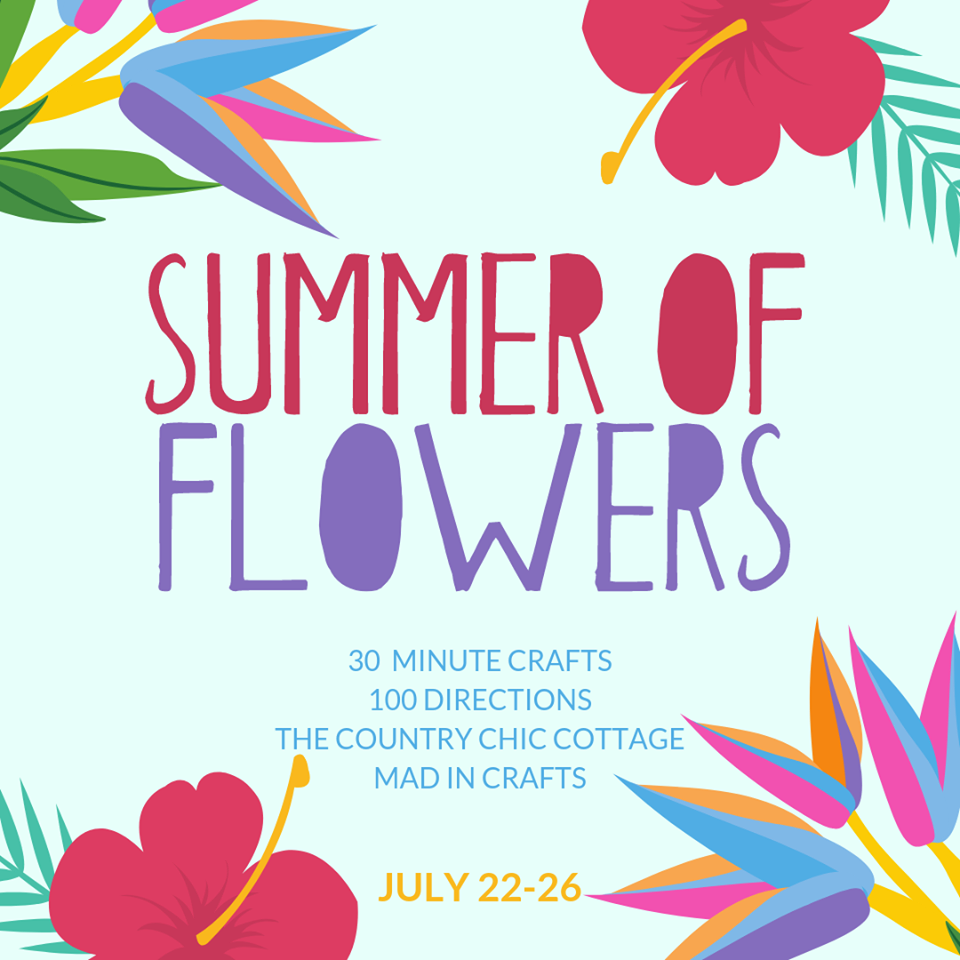 marketing graphic for summer of flowers event