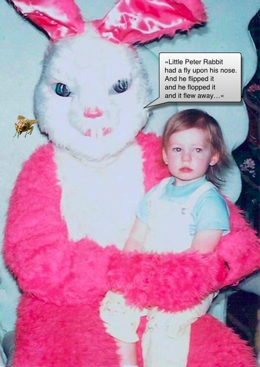 påskharen med sin unge vän