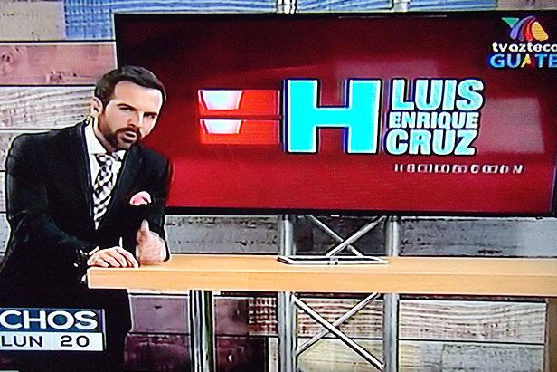 Luis Enrique Cruz Veneno es la nueva cara del noticiero Hechos Guatemala edición estelar
