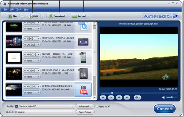 Aimersoft video editor download.