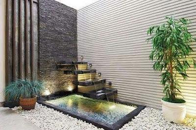 Kolam koi-garden style