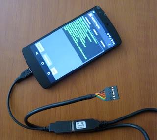 Nexsus5  Android アプリ MEMS DISG接続