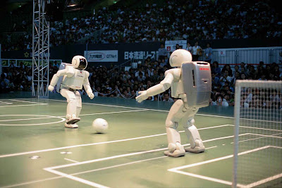Image of Robots Playing football: Intelligent computing