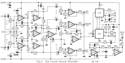 Audio Surround Decoder Circuit
