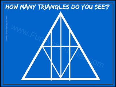 Number of Triangles Counting Picture Puzzle