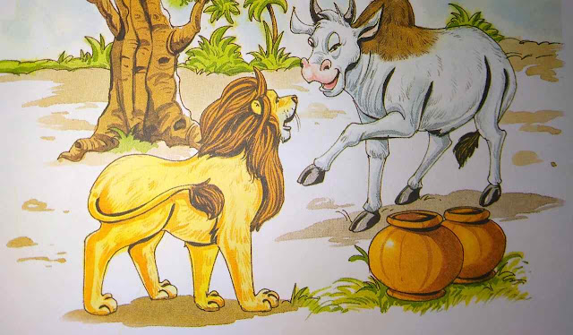 शेर की दावत में बैल Hindi Moral Stories For Class 8