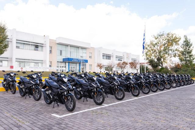 100 νέες δίκυκλες μοτοσυκλέτες παρελαβε η Ελληνική Αστυνομία