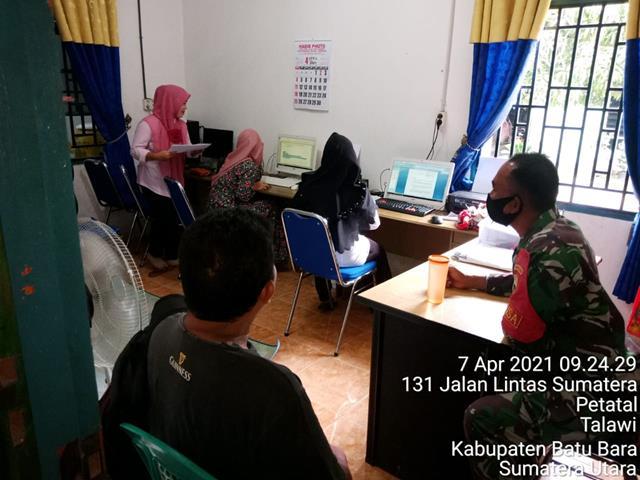 Dengan Komunikasi Sosial, Personel Jajaran Kodim 0208/Asahan Jalin Silaturahmi Dengan Perangkat Desa