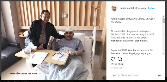 Kapolri Tito Jenguk Habib Nabiel Al-Musawa di Rumah Sakit