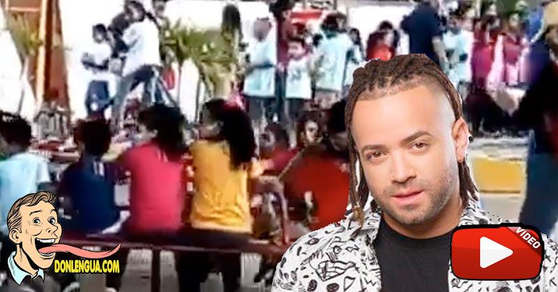 El Falso video de Nacho en un parque jugando con todos los hijos que tiene regados