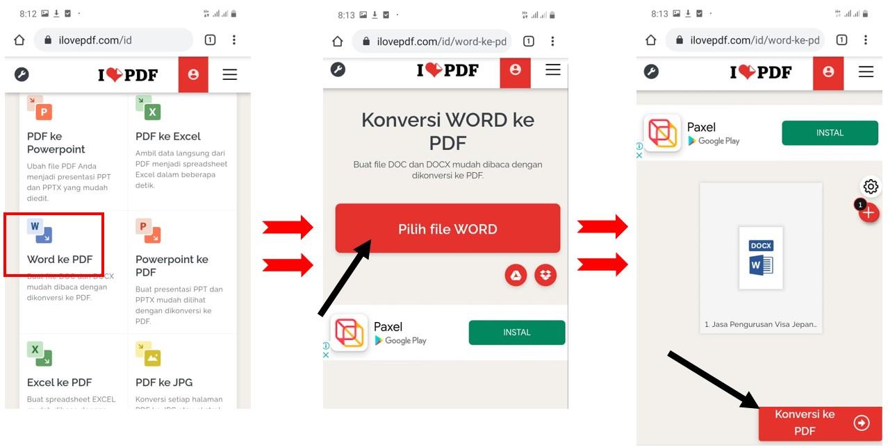 √ 1 Cara Mengubah Word ke PDF di HP (ONLY 1 MENIT-NO SOFTWARE ...
