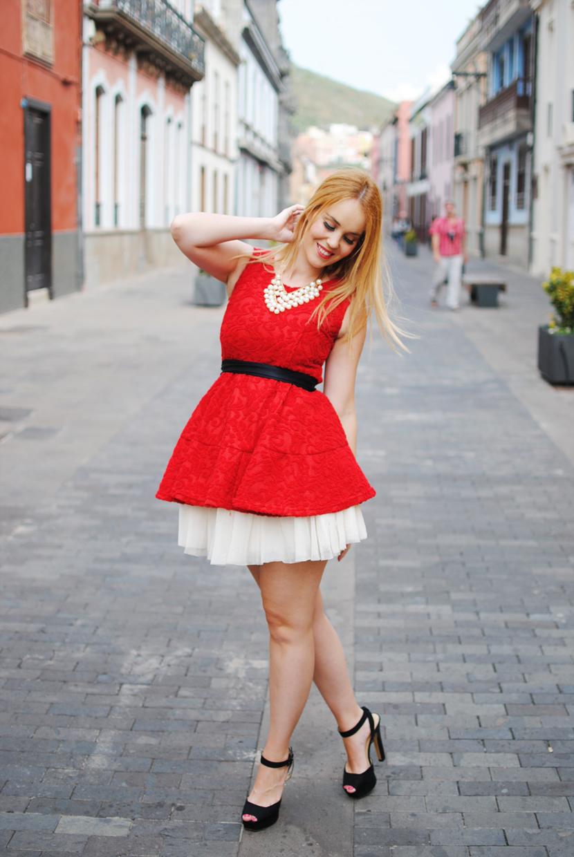 nery hdez, tideshe bloggers, red dress, tutu, born pretty store