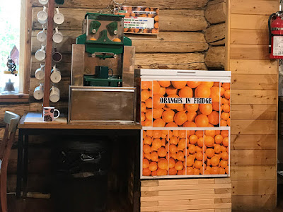 Tatogga Lake Resort's Fresh Orange Juice Machine – I want one!