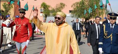 """الأنشطة الملكية - أمير المؤمنين يؤدي صلاة الجمعة بـ""""مسجد أريحا"""" بمدينة مراكش"""