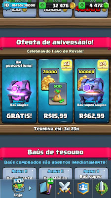 Oferta Especial no Clash Royale