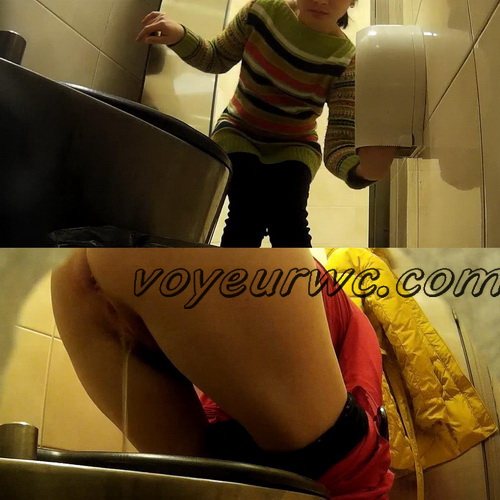 Shopping mall toilet spy - Peeping fun in a shopping mallе (Women's toilet in the mall 01)