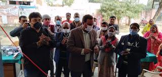 ब्लॉक प्रमुख ने स्वास्थ्य केन्द्र पर आरोग्य मेले का किया उद्घाटन  | #NayaSaberaNetwork