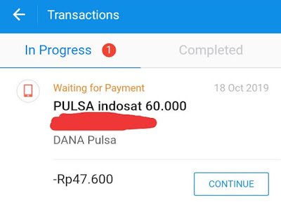 cara membatalkan transaksi pulsa aplikasi dana