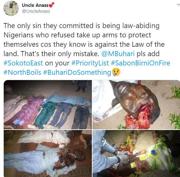 SAD!!! Gunmen Kill Over 50 Persons In Three Villages In Sokoto (Graphic Photos) #Arewapublisize