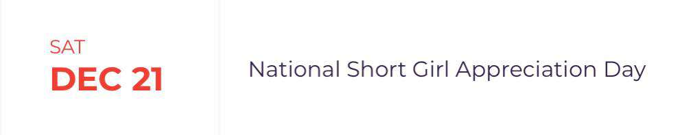 National Short Girl Appreciation Day Wishes for Whatsapp