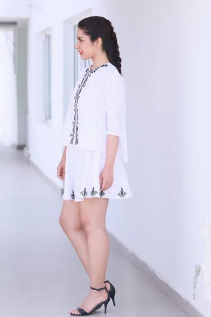 Raashi Khanna Photos in White Mini Skirt Actress Trend