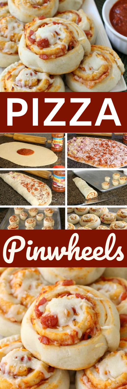 Pizza Pinwheels #dinner #appetizers #partyfood #recipes #lunch