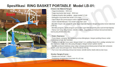 ring basket dorong standar internasional